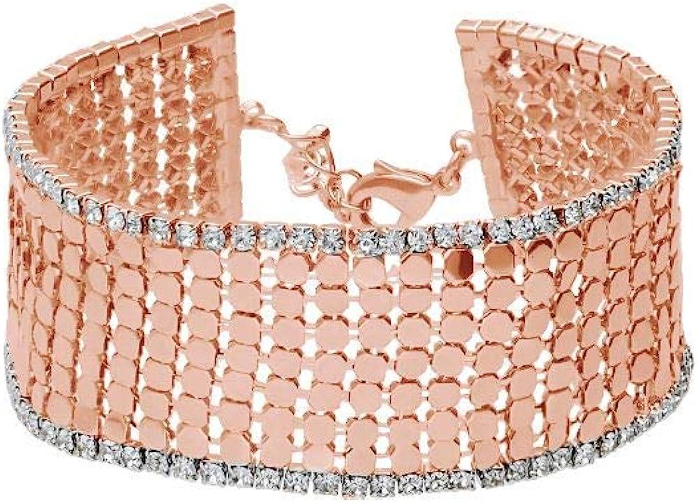 stroili -bracciale per donna, con strass in metallo rosato 1666139