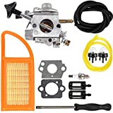 Dalom BR 600 Carburetor Air Filter Fuel Carb Repower Kit for Sthil BR500 BR550 BR600 Backpack Blower Leaf Blower Parts Replaces Zama C1Q-S183 4282-120-0606 4282-120-0607 4282-120-0608