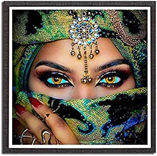 5D DIY Diamond Painting Kit Full Diamond Women People Cross Stitch Wall Stickers Home Decoration 30x30cm