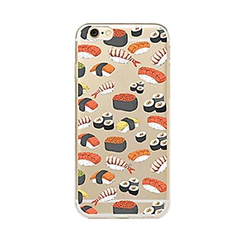 SecondDromi Custodia TPU Bellissimo Modello di Sushi morbidoper Il iPhone SE, per Il iPhone 5S,Trasparente