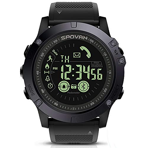 SPOVAN Men's Sports Bluetooth Smart Watch Water Resistant...