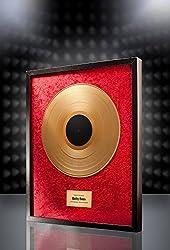 posterdeluxe Goldene Schallplatte (rot) - Super Geschenk für Musiker, DJs und Bands
