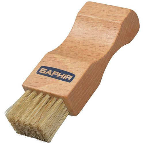 Saphir Pommadier Polish Brush – Applicator for Shoe Polish to Clean and Restore