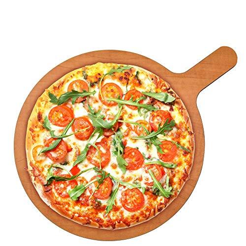Tabla de cortar para pizza de 12 x 16 pulgadas de fibra con mango para pizzas, pan, hornear, frutas, verduras y queso