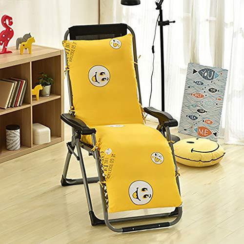 ZZPP Cojín para Tumbona,cojín reclinable Grueso extraíble y Lavable,cojín reclinable para jardín al Aire Libre Suave y cómodo (155 * 48 * 10 cm)
