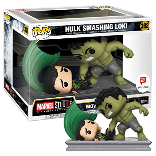Funko- Marvel-Movie Moments-Hulk Smashing Loki Figurina, Multicolore, 34883