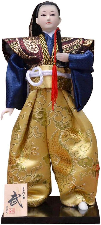 Japanese Unique Samurai Vintage Sushi Bar Decor Doll Figurine M