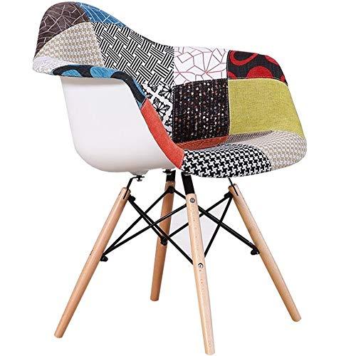 SFBBAO Stuhl Stoff Kunststoff Massivholz Moderne Kaffee Stuhl Home Log Studie Computer Stuhl Rückenlehne 43 * 43 * 78CM Halbe Packung
