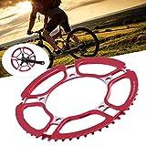 Fishawk Juego de bielas Huecas, Juego de bielas de Bicicleta, Juego de bielas de Bicicleta 130MMBCD, para Bicicleta Bicicleta de Alta Resistencia axial fácil de Instalar(Red)