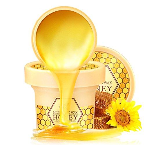 PanDaDa Miel Lait Main Masque Cire de Paraffine pour Mains Hydratant Blanchissant Crème Soins de Peau Mains(150g)