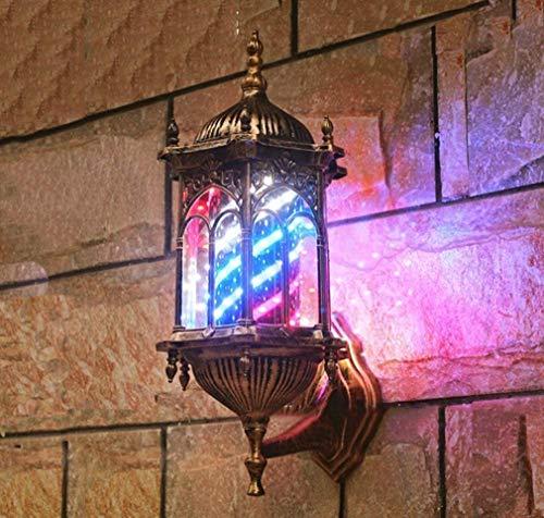 Preisvergleich Produktbild YGB Wasserdichtes Pole Light,  rotierendes Barber Pole Light LED beleuchtete Streifen Friseursalon Friseurschild Wandmontage Save Energy Retro Wandlampe