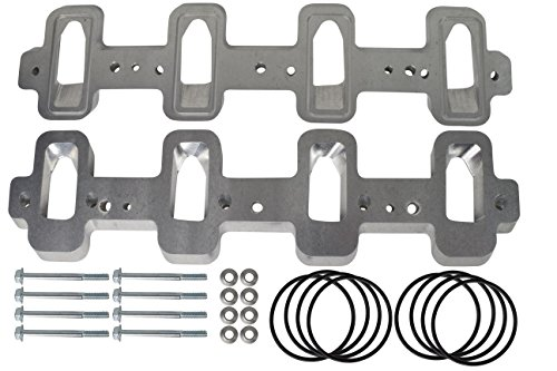 ICT Billet LS1 Cathedral Port Cylinder Head to LS3 LSA ZL1 CTS-V Supercharger Adapters Rectangle LSX 551316