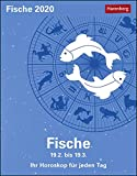 Fische Sternzeichenkalender. Tischkalender 2020. Tageskalendarium. Blockkalender. Format 11 x 14 cm