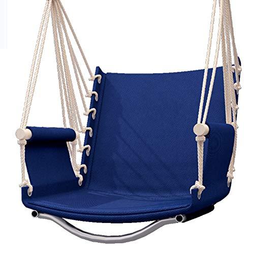 Schommelstoelen Hangstoel, Studentenslaapzaal Touwstoel Luie Schommelstoel Voor Binnen- of Buitenruimten Balkon Patio Tuin Patio,Navy blue