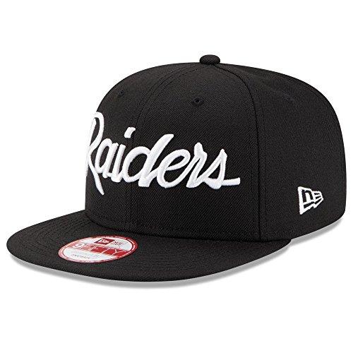 New Era Oakland Raiders Script 9FIFTY Snapback Hat Black