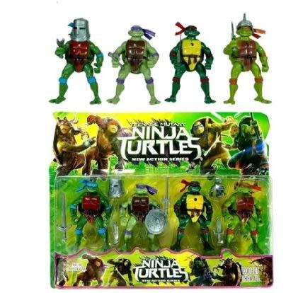 Kit 4 Bonecos Tartarugas Ninjas 12cm