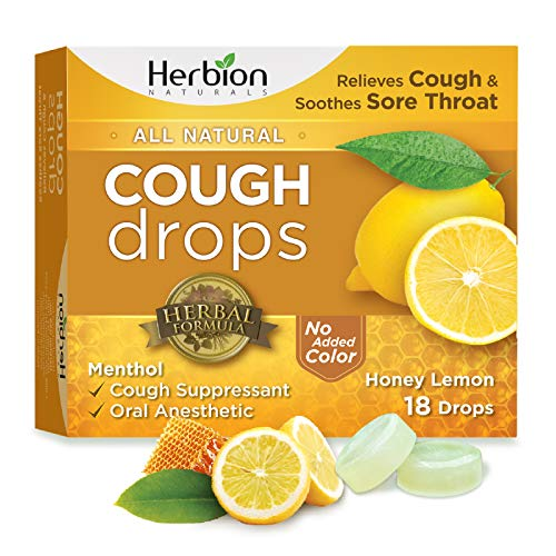 Herbion Naturals Cough Drops All Natural Honey Lemon 18 Drops