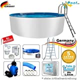 Alupool 6,00 x 1,50 Set Pool Rundpool 6 m Schwimmbecken 6,0 x 1,50 Swimmingpool Rundbecken rund Pools Aufstellpool Gartenpool Einbaupool Aufstellbecken 600 cm Set Aluminium Komplettset
