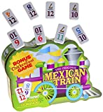 Dominoes Mexican Train, Double 12 Set, with Color-Coded NUMBERED...