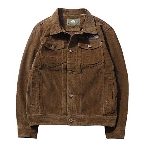 Men's Jacket Slim-Fit Casual Faux Leather Cotton Biker Coats Men's jacket retro plus size-coffee_XL