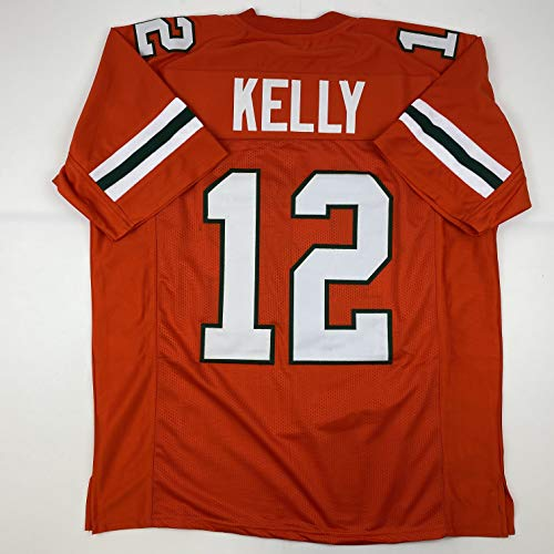 Unsigned Jim Kelly Miami Orange Custom Stitched College Football Jersey Size Men's XL New No Brands/Logos