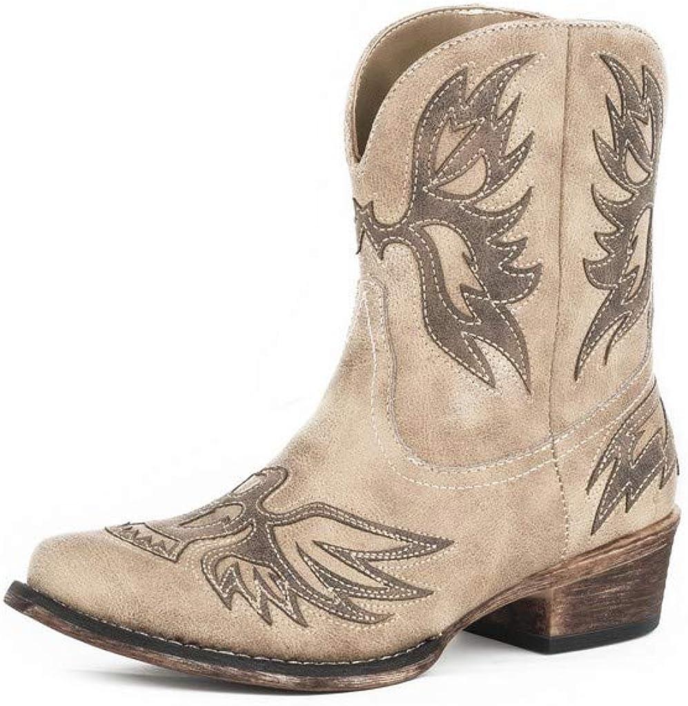 ROPER Western Boots Womens Snip Toe Amelia Tan 09-021-1567-2428 TA