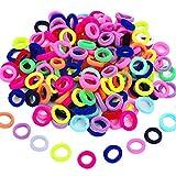 100 Stücke Elastische Haargummis Mini Haarbänder Kleine Gummibänder Mehrfarbig Mädchen Pferdeschwanz Inhaber für Baby Kinder