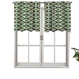 Hiiiman - Mantovana oscurante, a forma di rombo con dettagli a zig-zag, stile tradizionale americano, stile antico patatino, 127 x 45,7 cm, per camera da letto, soggiorno