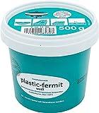 Fermit?Bote de pasta color blanco, útil plástica para juntas (Masa, resistente a más de 100°C (500g lata)