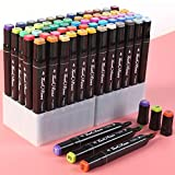80 Colores Marcadores Set de Doble Marcador de Punta Marcadores Permanentes de Graffiti Marker Pen Marcadores Manga Creativos para Pintura a Mano Graffiti Manga