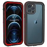 Fansteck Funda Impermeable para iPhone 12pro, Carcasa Resistente Al Agua IP68, Waterproof Case Protección de 360 Grados con Protector de Pantalla Anti-Choque Anti-Arañazos Sumergible