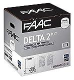 Faac Delta 2 Kit Automazione Per Cancelli Scorrevoli ad uso Residenziale con peso Max 500KG + Cremagliera Hiltron completa di bulloni Inclusa (Barra da 6 metri con 18 bulloni)