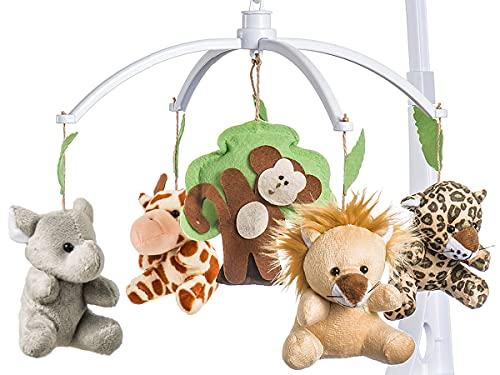 Móbile Berço Bebê Musical E Giratório Animais Da Floresta