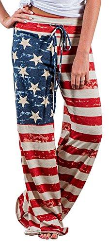 X-Image Women's Pajamas Comfy Pajama Lounge Pants Floral Print Drawstring Wide Leg Palazzo Pants Multicoloured, XX-Large