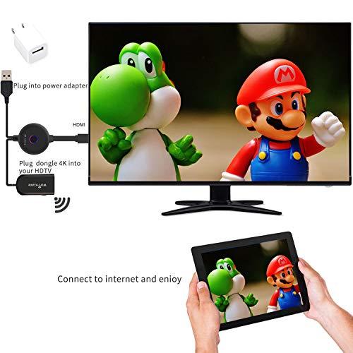Wireless Wifi Display Dongle HDMI,Mini Monitor Wifi, 2,4 Ghz, 1080P HD, Adattatore Schermo Wireless Per Smartphone/Pc/Tv/Monitor/Proiettore(Upgrade)