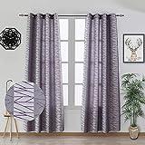 Dalina Textil 2 Piezas Cortinas para Salón o Habitación 140X260CM (Lineales Granate, 140x260cm)