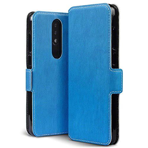 TERRAPIN Custodia Nokia 5.1 Plus, Cover di Pelle con Funzione di Appoggio Posteriore per Nokia 5.1 Plus Cover Pelle, Colore: Blu