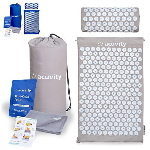 Acuvity Acupressure Mat and Pillow Set for Pain Relief- Spike Massage Mat for Stress...