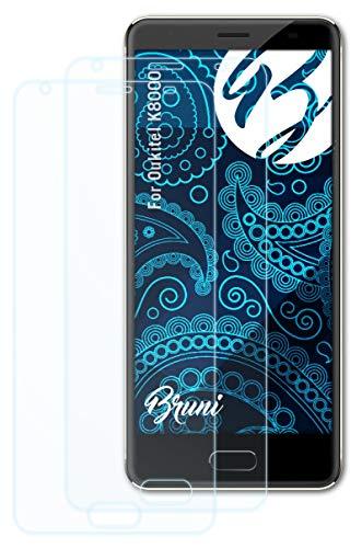 Bruni Schutzfolie kompatibel mit Oukitel K8000 Folie, glasklare Bildschirmschutzfolie (2X)