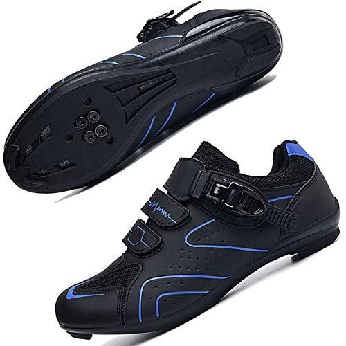 Zapatillas de ciclismo para hombre para hombre, con hebilla transpirable, compatible con SPD, compatible con interiores y exteriores, para montar a caballo, color, talla 40 2/3 EU
