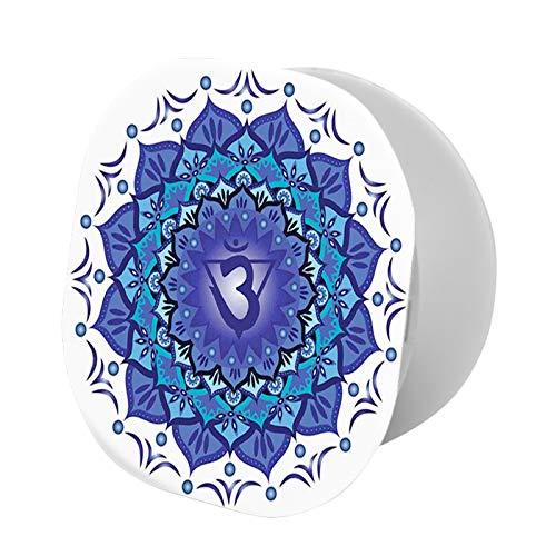 Soporte para teléfono, diseño de flor de loto y Ajna Chakra símbolo de meditación Yoga Zen, soporte universal para todos los teléfonos