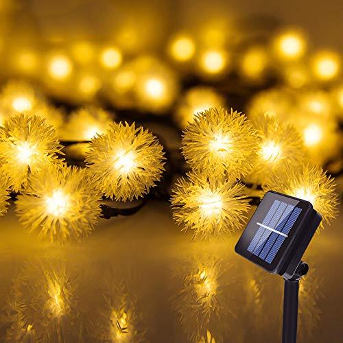 Solar Lichterkette, InnooLight Solar Lichterkette Aussen 30er LED Garten Außen Innen Wasserfest 6,8 Meter Warmweiß Solar Beleuchtung für Party, Terrasse, Hof, Haus, Outdoor, Fest Deko usw