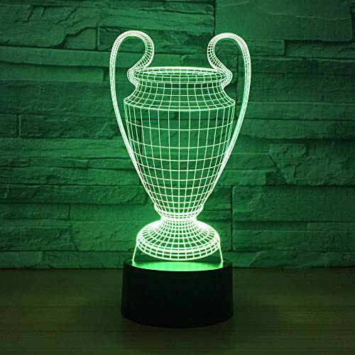 3D Illusion Lampe Led Nachtlicht 7 Farbwechsel Weinglas Modellierung Touch Button Usb Baby Schlafzimmer Schlaf Luminaria Container Vase Schreibtischlampe
