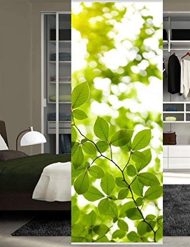 HOME WOHNIDEEN Raumteiler Dekostoff Digitaldruck Leaf 245 x 90 cm Grün