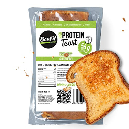 5 Packungen High Protein Toastbrot (natur, glutenfrei)