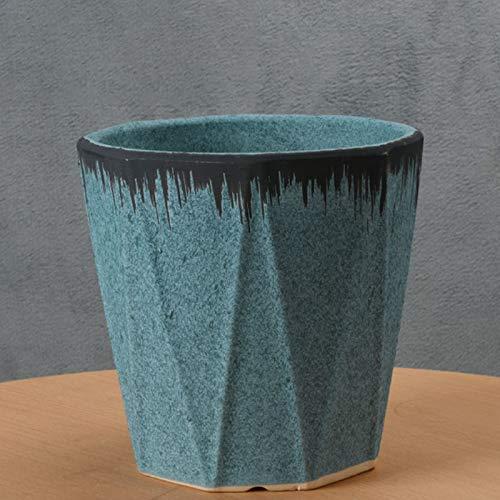 zongshengshop Maceta Maceta Plato Sencillo Estudio Sala de Estar Tiesto Verde suculento de Plantación de cerámica Tiesto macetas Exterior (Size : L)