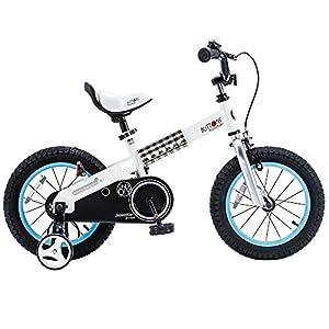 RoyalBaby Boys Girls Kids Bike Honey Buttons 3-9 Years Old 12 14 16 18 Inch Training Wheels Kickstand Red Blue Green… -