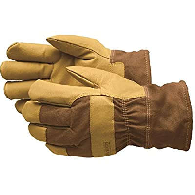 GEMPLER'S Premium Fully Waterproof, Insulated Soft Pigskin Leather Work Gloves, Size XL, with Safety Cuff and HeatKeep Insulation Technology – All-Weather 3-Layer Work Gloves - 1 Pair