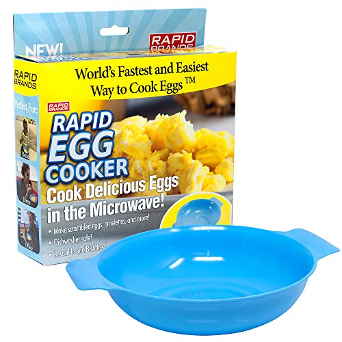 Rapid Egg Cooker   Microwave Scrambled Eggs & Omelettes in 2 Minutes   Perfect for Dorm, Small Kitchen, or Office   Dishwasher-Safe, Microwaveable, & BPA-Free