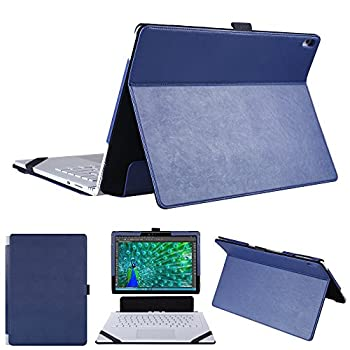 Hongyixun Surface Book 13.5 Inch Case 2 in 1 Kickstand Book Style Cover for Microsoft Surface Book 13.5 Inch Laptop Only-Blue